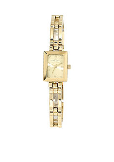 Anne Klein Gold-Tone Rectangular Watch
