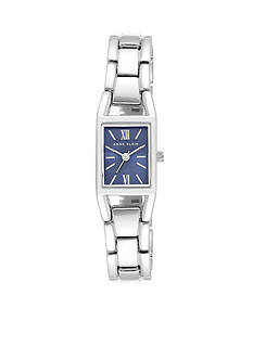 Anne Klein Women's Silver-Tone Blue Dial Watch