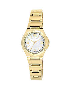 Anne Klein Gold-Tone Mother Of Pearl Dial Watch