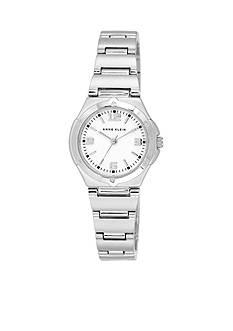 Anne Klein Women's Silver-Tone Round Bracelet Watch