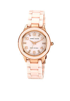 Anne Klein Blush Ceramic Link Watch
