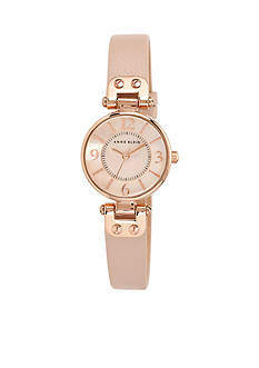 Anne Klein Women's Round Rose Gold-Tone Watch