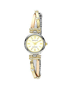 Anne Klein Tri Color Round Bangle Watch
