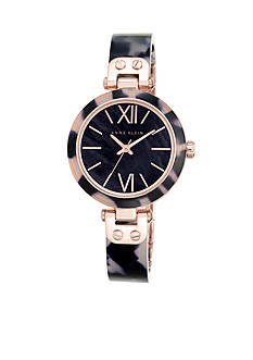Anne Klein Women's Navy Tortoise Bangle Watch