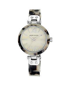 Anne Klein Women's Gray Tortoise Plastic Bangle Watch
