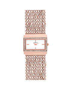 Anne Klein Rectangular Case and Chain Bracelet