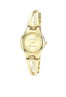 Anne Klein Gold Round Bangle Bracelet Watch