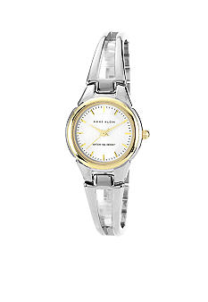 Anne Klein Two-Tone Round Bangle Bracelet Watch
