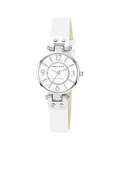 Anne Klein Classic Leather Strap Watch