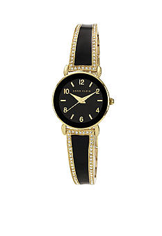 Anne Klein Crystal Bangle Bracelet Watch