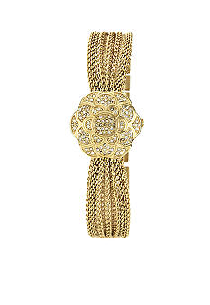 Anne Klein Covered Dial Mesh Bracelet Watch