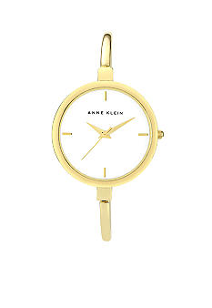 Anne Klein Thin Gold Tone Bangle Watch
