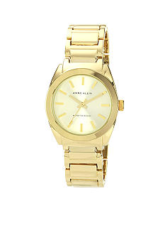 Anne Klein Goldtone Round Ladies Dress Watch