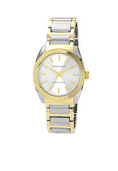 Anne Klein Two-Tone Round Ladies Dress Watch