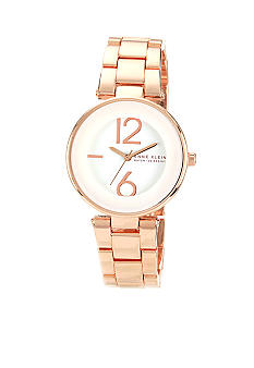 Anne Klein Rose Gold Case with Rose Bracelet