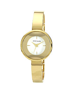 Anne Klein Round Goldtone Bangle Watch