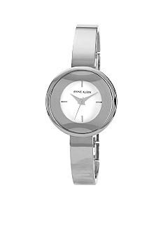 Anne Klein Round Silvertone Bangle Watch