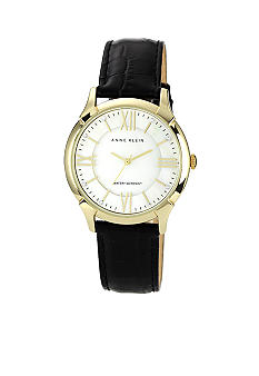 Anne Klein Gold Tone Case With Interchangeable Straps Box Set