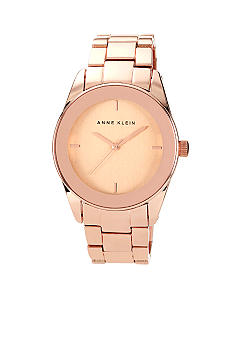 Anne Klein Boyfriend Inspired Rose Goldtone Watch