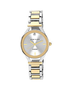 Anne Klein Two-Tone Bracelet with Diamond Accent Watch