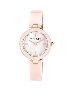 Anne Klein Blush Ceramic Bangle Watch