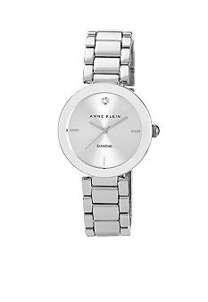 Anne Klein Silver Tone Diamond Dial Watch