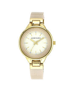 Anne Klein Ivory Glitter Bangle Watch
