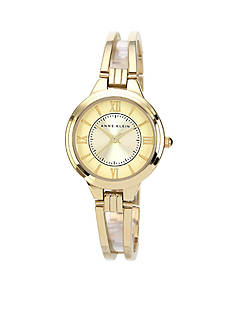 Anne Klein Women's Round Gold Tone Bangle Watch