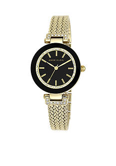 Anne Klein Gold-Tone Crystal Watch