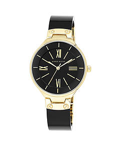 Anne Klein Women's Black Bangle Watch