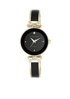 Anne Klein Women's Black Diamond Bangle Watch