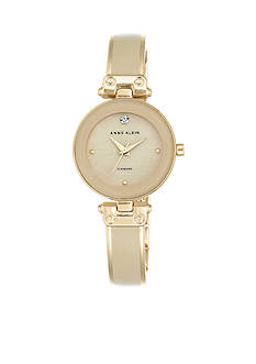 Anne Klein Women's Tan Diamond Bangle Watch