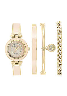 Anne Klein Women's 4 Piece Blush & Crystal Watch - Box Set