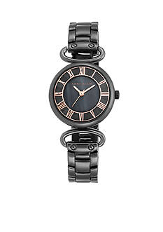 Anne Klein Women's Gunmetal Bracelet Link Watch