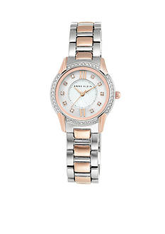 Anne Klein Women's Crystal Bezel Rose Gold Two-Tone Watch