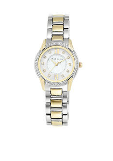 Anne Klein Women's Crystal Bezel Two-Tone Watch