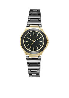 Anne Klein Women's Gold and Black Ceramic Watch