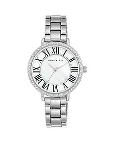 Anne Klein Women's Silver-Tone Crystal Watch