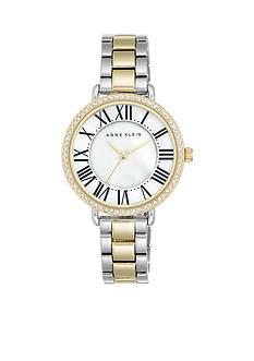 Anne Klein Women's Two Tone Crystal Watch