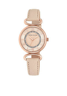 Anne Klein Women's Rose Gold-Tone Watch