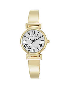 Anne Klein Women's Gold-Tone Roman Bangle Watch