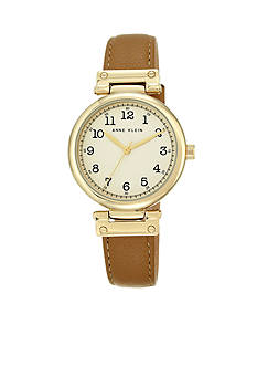 Anne Klein Women's Gold-Tone Case Watch