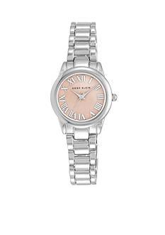 Anne Klein Women's Pink Dial Silver-Tone Watch