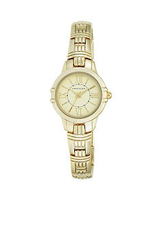 Anne Klein Women's Gold-Tone Textured Bracelet Watch