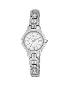 Anne Klein Women's Silver-Tone Grooved Link Watch