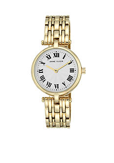 Anne Klein Women's Gold-Tone Metal Link Watch