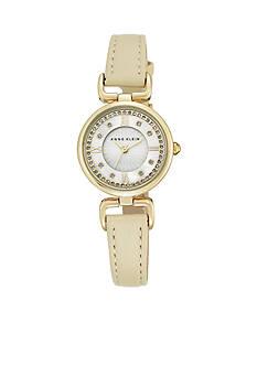 Anne Klein Women's Ivory Crystal Watch