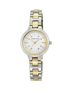 Anne Klein Women's Two-Tone Crystal Dial Watch