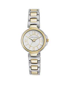 Anne Klein Women's Two-Tone Matte Center Link Bracelet Watch