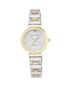 Anne Klein Women's Two-Tone Diamond Dial Watch